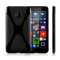 Силиконовый X чехол для Microsoft Lumia 640 XL Черный