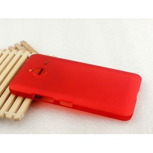 Пластиковый матовый непрозрачный чехол для Microsoft Lumia 640 XL Красный