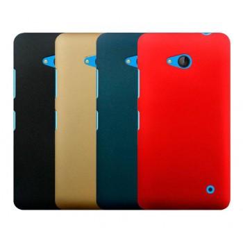 Пластиковый матовый Металлик чехол для Microsoft Lumia 640