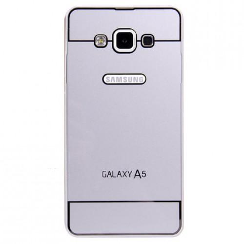 Двухкомпонентный чехол с металлическим бампером и поликарбонатной накладкой Dark Apple и лого-отверстием для Samsung Galaxy A5