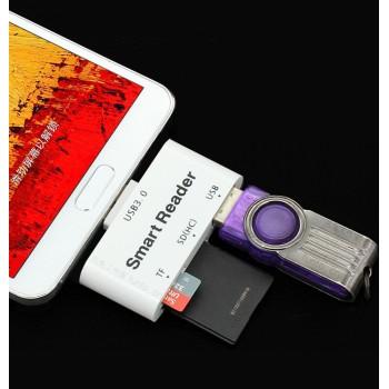Универсальный переходник OTG для подключения внешней памяти USB 3.0/SD/MicroSD