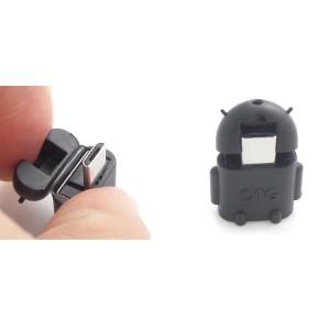 Нанопереходник MicroUSB-USB OTG дизайн Андроид для подключения периферийных USB устройств Черный