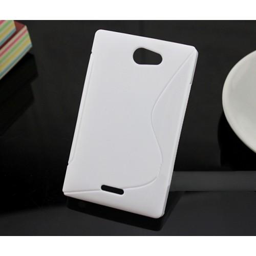 Силиконовый S чехол для Nokia Asha 502 Черный