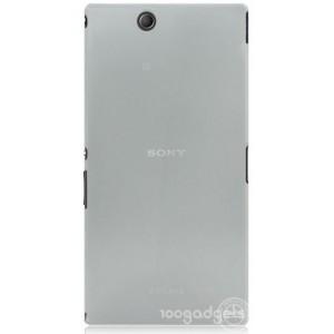 Пластиковый матовый полупрозрачный чехол для Sony Xperia Z Ultra Белый