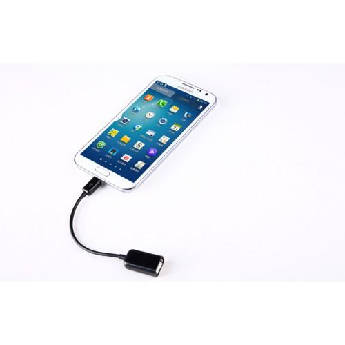 Кабель MicroUSB-USB OTG для подключения периферийных USB устройств