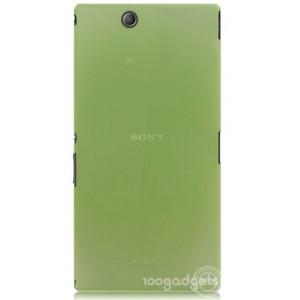 Пластиковый матовый полупрозрачный чехол для Sony Xperia Z Ultra