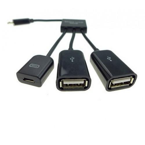 Хаб MicroUSB-USB OTG для подключения 3-х периферийных USB устройств