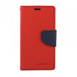 Дизайнерский чехол портмоне подставка с магнитной защелкой на силиконовой основе для Nokia Lumia 630/635 Красный
