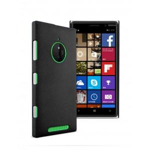 Пластиковый матовый чехол с повышенной шероховатостью для Nokia Lumia 830 Черный