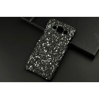 Пластиковый матовый дизайнерский чехол с голографическим принтом Звезды для Samsung Galaxy A5 Белый