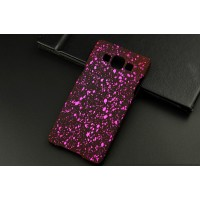 Пластиковый матовый дизайнерский чехол с голографическим принтом Звезды для Samsung Galaxy A5 Пурпурный