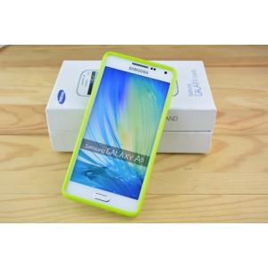 Силиконовый глянцевый непрозрачный чехол для Samsung Galaxy A5 Зеленый