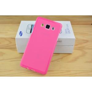 Силиконовый глянцевый непрозрачный чехол для Samsung Galaxy A5 Пурпурный