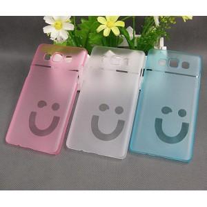 Пластиковый матовый полупрозрачный дизайнерский чехол Smile для Samsung Galaxy A5