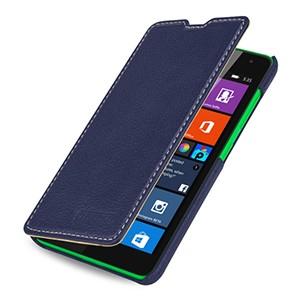 Кожаный чехол горизонтальная книжка (нат. кожа) для Microsoft Lumia 535