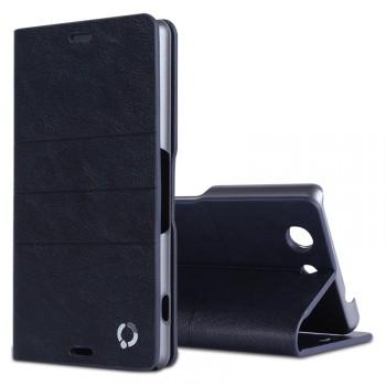 Чехол флип подставка на пластиковой основе с внутренними слотами для Sony Xperia Z3 Compact