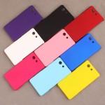 Пластиковый матовый непрозрачный чехол для Sony Xperia Z3 Compact