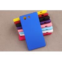 Пластиковый матовый непрозрачный чехол для Sony Xperia Z3 Compact Синий