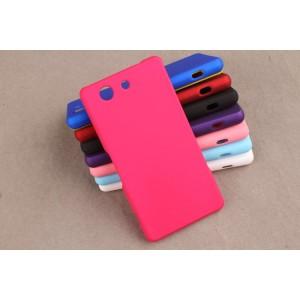 Пластиковый матовый непрозрачный чехол для Sony Xperia Z3 Compact Пурпурный