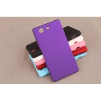 Пластиковый матовый непрозрачный чехол для Sony Xperia Z3 Compact Фиолетовый