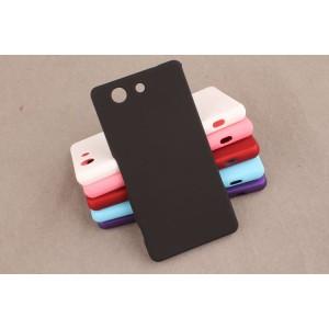 Пластиковый матовый непрозрачный чехол для Sony Xperia Z3 Compact Черный