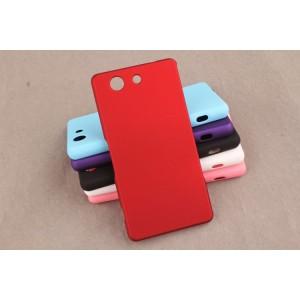 Пластиковый матовый непрозрачный чехол для Sony Xperia Z3 Compact Красный