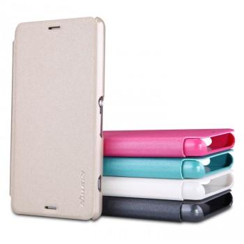 Чехол флип на пластиковой нескользящей основе для Sony Xperia Z3 Compact (d5803)