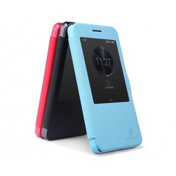 Текстурный чехол смартфлип с окном вызова серия Colors для Huawei Honor 4X