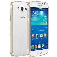Металлический бампер для Samsung Galaxy Grand / Neo Бежевый