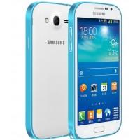 Металлический бампер для Samsung Galaxy Grand / Neo Голубой