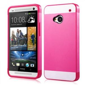 Двухцветный чехол силикон-пластик для HTC One (M7) One SIM (Для модели с одной сим-картой)
