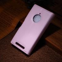 Чехол портмоне подставка зернистой текстуры с защелкой на пластиковой основе для Nokia Lumia 830 Розовый