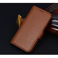 Кожаный чехол портмоне (нат. кожа крокодила) для Huawei Honor 4X