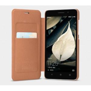 Текстурный чехол флип подставка с внутренним карманом на пластиковой основе для Huawei Honor 4X