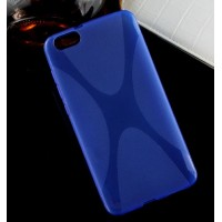 Силиконовый X чехол для Huawei Honor 4X Синий