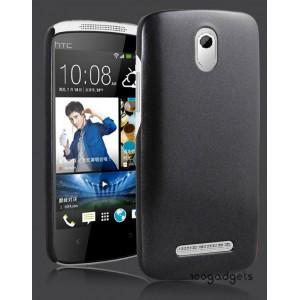Пластиковый чехол серия Metallic для HTC Desire 500 Черный