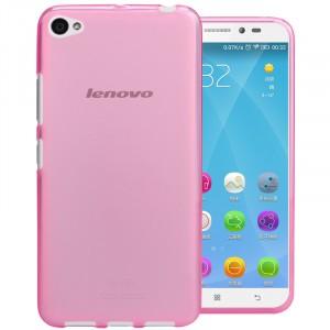 Силиконовый матовый полупрозрачный чехол для Lenovo S60 Розовый