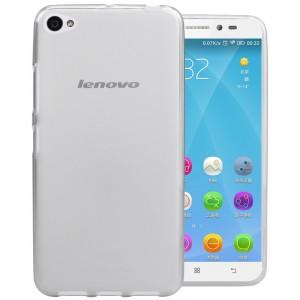 Силиконовый матовый полупрозрачный чехол для Lenovo S60 Белый