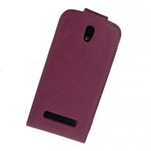 Чехол вертикальная книжка с магнитной защелкой для HTC Desire 500 Фиолетовый