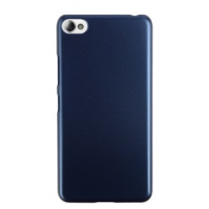 Пластиковый матовый непрозрачный чехол Металлик для Lenovo S60 Синий