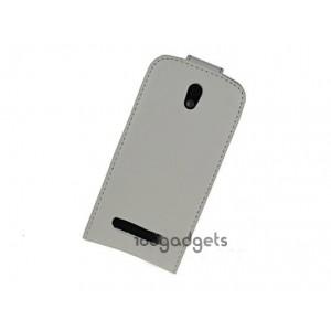 Чехол вертикальная книжка с магнитной защелкой для HTC Desire 500 Белый