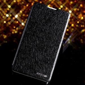 Чехол флип подставка со светоотражающей поверхностью на пластиковой основе для ZTE Nubia Z5S Mini Черный