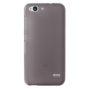 Силиконовый матовый полупрозрачный чехол для ZTE Blade S6/S6 Lite Черный