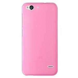 Силиконовый матовый полупрозрачный чехол для ZTE Blade S6/S6 Lite Розовый