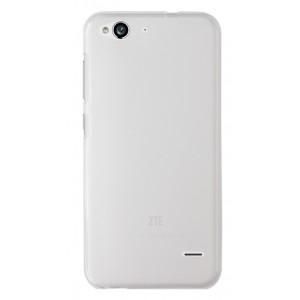 Силиконовый матовый полупрозрачный чехол для ZTE Blade S6/S6 Lite Белый