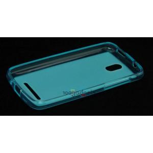 Силиконовый полупрозрачный чехол для HTC Desire 500 Голубой