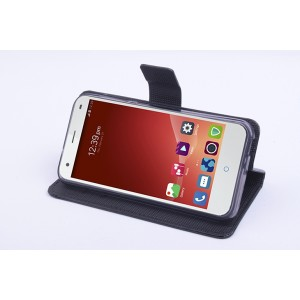 Чехол портмоне подставка на силиконовой основе с магнитной защелкой для ZTE Blade S6/S6 Lite