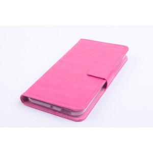 Чехол портмоне подставка на силиконовой основе с магнитной защелкой для ZTE Blade S6/S6 Lite Пурпурный