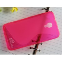 Силиконовый S чехол для Alcatel One Touch Idol 2 S Розовый