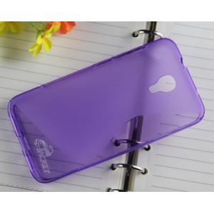 Силиконовый S чехол для Alcatel One Touch Idol 2 S Фиолетовый